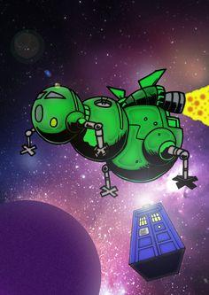 #DoctorWho / #RedDwarf Comic Book -  Artwork 4 by mikedaws.deviantart.com on @deviantART
