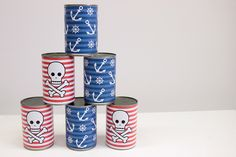 Pirate Tin Can Bowling