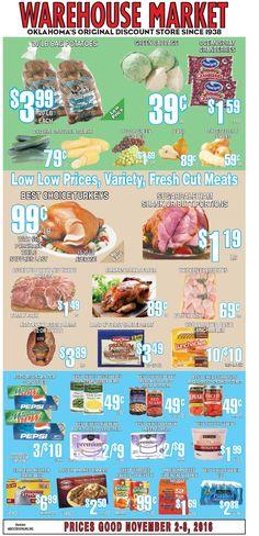 Warehouse Market Weekly Ad November 9 - 15, 2016 - http://www.olcatalog.com/warehouse-market/warehouse-market-weekly-ad.html