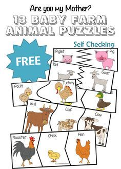 FREE Baby Animal Puzzles (13 Total!)