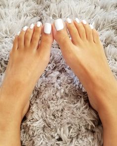 White Toes Are The Right Toes 👣 White Toe Nail Polish, Peach Nail Polish, Toe Nail Color, Peach Nails, White Nails, Pretty Toe Nails, Cute Toe Nails, Pretty Toes, Gorgeous Feet