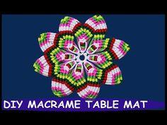 Macrame Table Mat | Macrame Thali Cover - YouTube