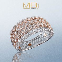 Stunning bracelet with round diamonds and rose gold. #MBj #Luxury #Desirable…