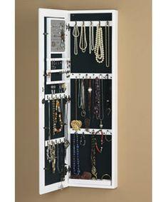 Jewelry storage mirror. Need it.