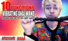 Long Anal Wand with Ten Function Vibrating Beads for Extreme Pleasure