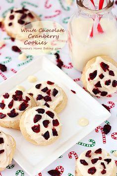 White chocolate cranberry cookies #25recipestoXmas