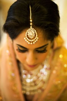 Statement bridal maang tikka. Indian jewellery.