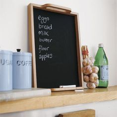 Cell Phone Camera... take a pic of the shopping list or other notes on your home bulletin board.