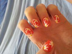 Nail art. Flowers. Summer