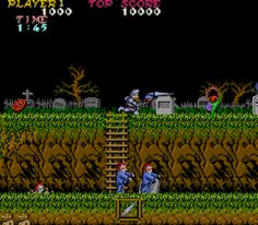 Been racking my brains to figure out what this game was, another game i used to play on the commodore 64 - Ghosts'n goblins