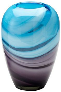The Callie turquoise and purple glass vase will bring a contemporary pop of color to your living space. Turquoise and purple finish. Style # at Lamps Plus. Turquoise Accents, Turquoise And Purple, Aqua, Purple Art, Purple Glass, Contemporary Vases, All Things Purple, Glass Paperweights, Vases