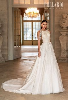Pollardi Wedding Dresses | Wedding Inspirasi  -- pollardi 2021 royalty bridal cold shoulder halter neck full embellishment beaded glamorous elegant a  line wedding dress covered back chapel train (splendor) mv  #Ad #Bridal #Pollardi #Wedding #Weddingdress #WeddingDresses #WeddingGown #WeddingGowns  ~ Dream Wedding Dresses, Wedding Suits, Designer Wedding Gowns, Glamour, Bridal Collection, Marie, Ball Gowns, Lace Silk, Tulle Lace