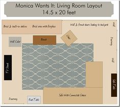 area rug size guide double bed Stillwater Pinterest Rug