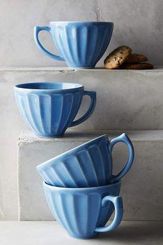 Latte Mugs in Sky Blue - anthropologie.com