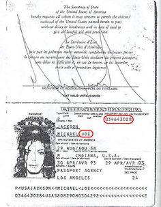 Michael's Passport From 1993 - Michael Jackson Photo - Fanpop Michael Jackson House, Michael Jackson Rare, Mj Music, Instagram Posts, King, Pop, Joseph, Paradise, Daddy