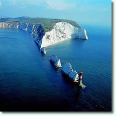 The Needles, group of rocks off The Isle of Wight, a small island off the South West coast of England