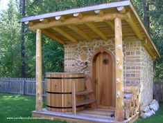 Good sauna designs and plans make your sauna project perfect. When you decide to design your own sauna, it is important to consider several factors. Heaters are the heart and soul of any sauna. Diy Sauna, Sauna Ideas, Sauna House, Tiny House Cabin, Outdoor Sauna, Outdoor Baths, Sauna Shower, Cordwood Homes, Sauna Design