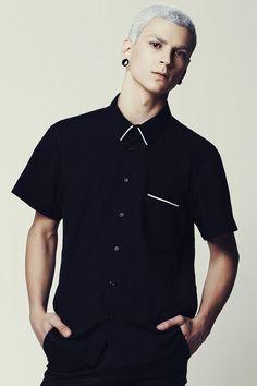 Mens Shirt Mens Black Shirt Dress Shirt Short door EliranNargassi