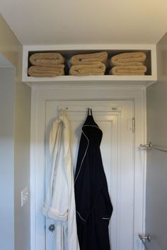 Extra Shelves Above the Door | 15 Ingenious DIY Home Projects For Small Spaces