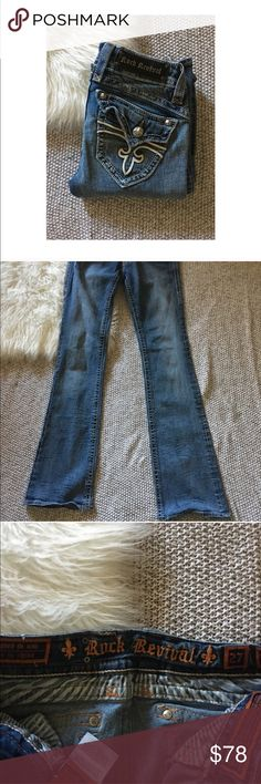 Rock Revival Bootcut Jeans Rock Revival Jeans. Size 27. Stephanie Bootcut. Great condition. Intentional distress as pictured. Rock Revival Jeans Boot Cut