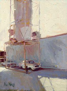 william wray Contemporary Landscape, Urban Landscape, Landscape Art, Landscape Paintings, Urban Painting, Artist Painting, Painting & Drawing, Industrial Paintings, Art Plastique