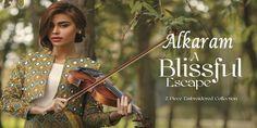 AlKaram Studio 2Piece A Blissful Escape Collection 2017 http://www.womenclub.pk/alkaram-studio-2piece-blissful-escape-collection-2017.html #Alkaram #studio #TheScarlettWanderer #Lawn #Collection #Dresses #Chiffon #Pret