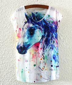 Horse should be positioned lower. Was this a fail Pinterest DIY t-shirt?