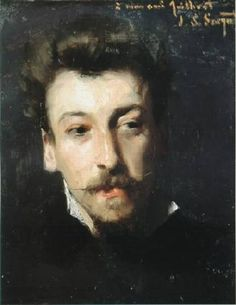 John Singer Sargent (1856 - 1925) - Portrait of Eugene Juillerat, Artist