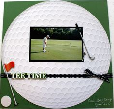 Golf sports Scrapbook Page layout