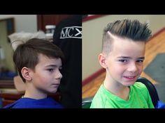 Kid's Pompadour Tutorial - YouTube