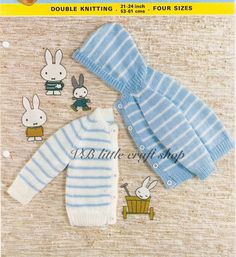Baby's jacket with hood and without knitting pattern. Instant PDF download! by…