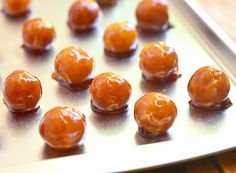 Yema balls..luscious custard centers and melt-in-your-mouth caramel shells. Only three ingredients to make #yema #custardcandies