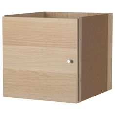IKEA - KALLAX, Insert with door, white stained oak effect, , The insert looks nice in a room divider as the back has also been finished.Easy to assemble. $20