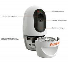 Pawbo Wi-Fi Pet Camera with Treat Dispenser Pawbo is the new interactive wireless pet camera with resolution high definition image quality and Ultra Wide Angle Lens, Dots Game, Pet Camera, Pet Dogs, Pets, Camera Reviews, Pet Treats, Wifi, Monitor