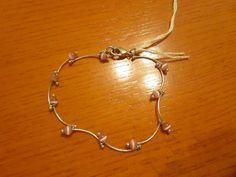 silver curved links pink glass beads bracelet.   Jewelry & Watches, Handcrafted, Artisan Jewelry, Bracelets   eBay!