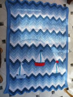 Crochet Nautical Baby Afghan