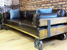Industrial Revolution Sofa- Our three seater sofa comes with urban style as standard.