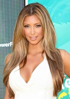 Do you love Kim Kardashian's #hairstyle? Gorgeous with perfect layers and a center parting style. You can have access to different hair parting styles with natural hairlines.