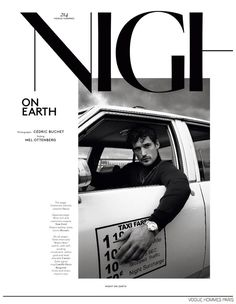 Night on Earth by Cédric Buchet for the Fall Winter '14-15 Issue Vogue Hommes Paris.