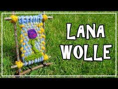 Tutorial TELAR DECORATIVO CASERO Paso a Paso.  Handmade Loom. Handgemacht Webrahmen. Lana Wolle - YouTube