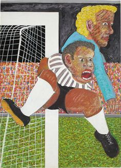 """Futebol, 1978  gouache and pastel on paper  27 1/2 x 19 5/8 in. (70 x 50 cm.)  Signed and dated """"Cildo Meireles 78"""" lower right."""