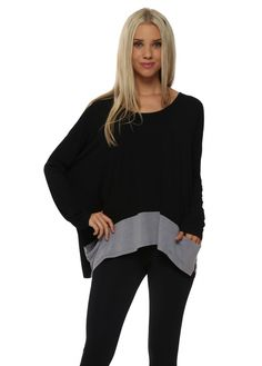 A POSTCARD FROM BRIGHTON Cara Pearl Melange Piped Long Sleeved Pammy Top