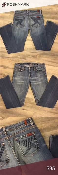7 for all mankind flynt jeans In good condition one minor spot at hem. They have a vintage feel. 7 For All Mankind Jeans