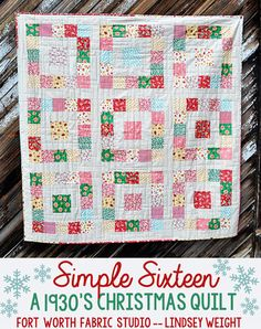 SIMPLE SIXTEEN Quilt Pattern FREE DOWNLOAD FWFS EXCLUSIVE | Fort Worth Fabric Studio