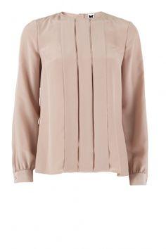 Zijden blouse Fabia | oudroze - www.littlesoho.com