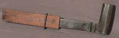44 cm stossaxt von ochsenkopf mit schneidenschutz; morticing axe with guard D