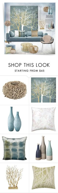 """Tranquill Trees"" by snowbell ❤ liked on Polyvore featuring interior, interiors, interior design, home, home decor, interior decorating, See by Chloé, D&M, Klong and Lazy Susan"