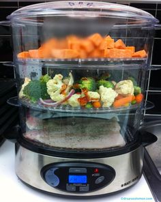 quick & easy healthy meal for the whole family: using a Digital Steamer