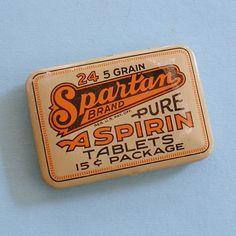 Aspirin Tin Spartan