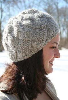Damn You, Knitpicks! That's cute. Entrelac Winter Hat by Amanda Lilley